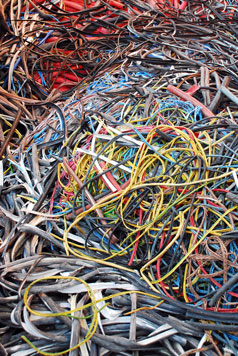 Dial One Security Recycles Scrap Cable